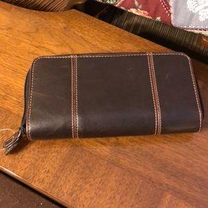Brown leather women's wallet